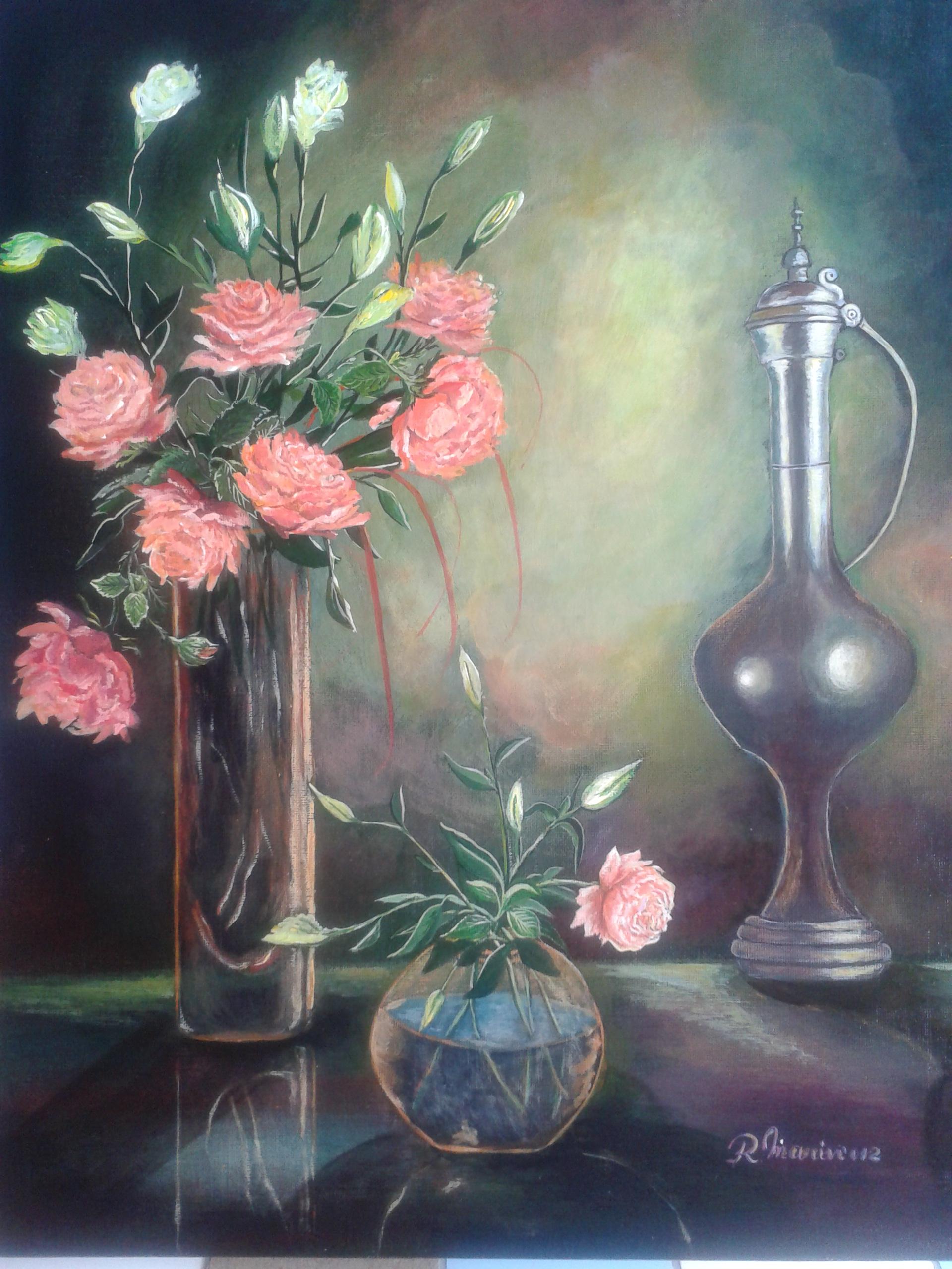 flori în vaze