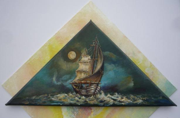 barca într-un triunghi