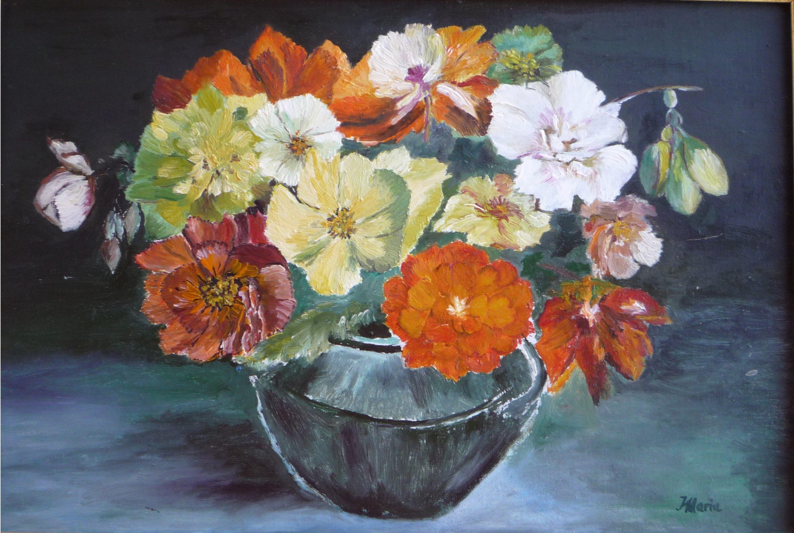 buchet de flori multicolore