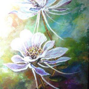 flori albe și albastre