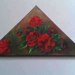 trandafiri într-un triunghi