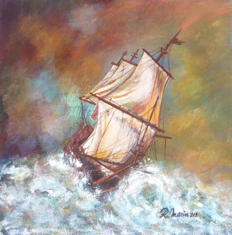 barca în furtună
